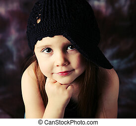 Gorgeous preschool girl - Portrait of a beautiful young...