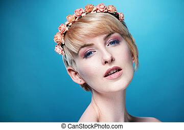Gorgeous sensual blond woman