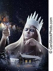 Gorgeous Snow queen - Gorgeous Snow Queen is sending a snow...