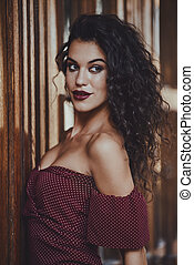 gorgeous spanish woman - Charming young woman dressed in...