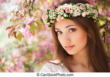 Gorgeous spring woman. - Portrait of a gorgeous spring woman...