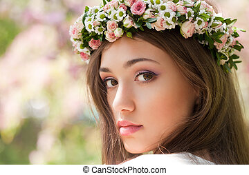 Gorgeous spring woman.