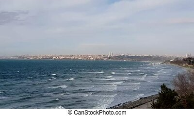 Gorgeous town in Florya located close to the public sea in Istanbul, Turkey. It is located along Marmara Sea. It is one of the high class and rich areas of Istanbul.