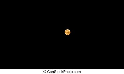 Gorgeous view on moon during lunar eclipse 2018. Real time....