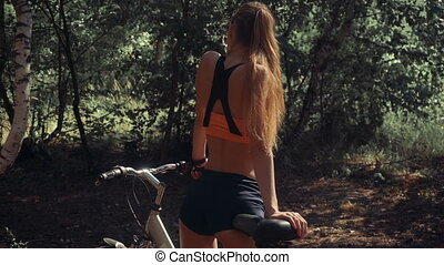 gorgeous woman with a Bicycle