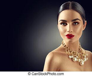 Gorgeous young brunette woman portrait