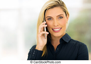 young office worker making phone call