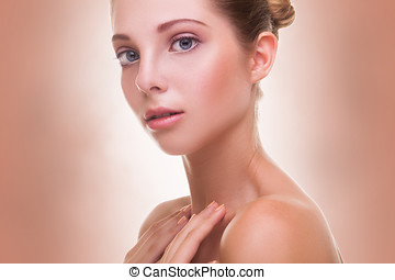 Gorgeous young woman with healthy skin