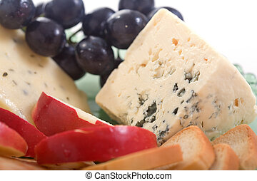 Gorgonzola cheese and apple - Gorgonzola cheese platter with...
