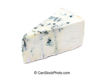 Gorgonzola Cheese - Piece of gorgonzola cheese on white ...