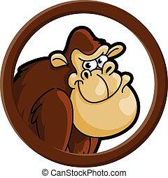 Gorila circle banner