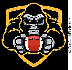 Gorilla American Football Mascot