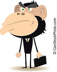 Gorilla Businessman
