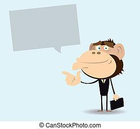 Gorilla Businessman with Message