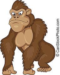 gorilla, cartone animato