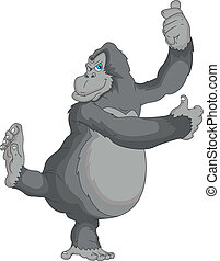 gorilla cartoon