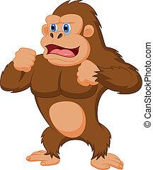 Gorilla cartoon  - Vector illustration of Gorilla cartoon