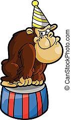 gorilla circus illustration