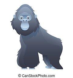 Gorilla cute cartoon character