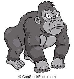 Gorilla - Vector illustration of Gorilla Cartoon