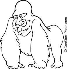 gorilla for coloring book