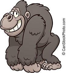 gorilla, glücklich