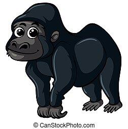 gorilla, glückliches gesicht