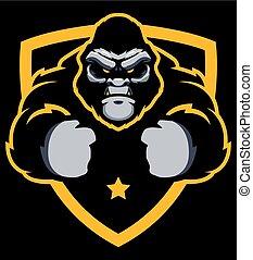 Gorilla Gym Mascot