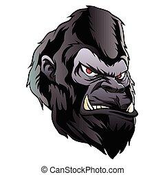 gorilla head illustration.