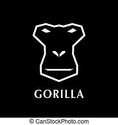 Gorilla head logo element.