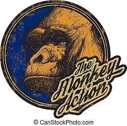 Gorilla Head Logo Mascot Emblem