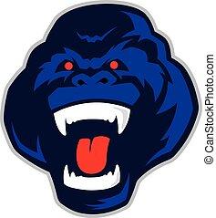 Gorilla head mascot