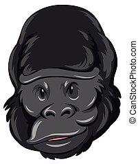 Gorilla head with happy face