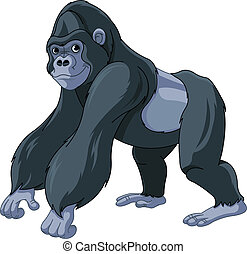 Gorilla - Illustration of cute cartoon gorilla