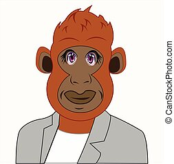 Gorilla in suit