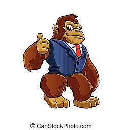 Gorilla in suit.