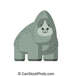 gorilla jungle animal in cartoon abstract design