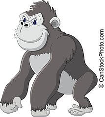 gorilla, karikatur, lustiges