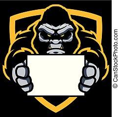 Gorilla Sign Mascot