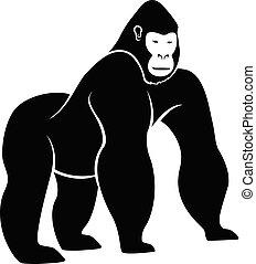 Gorilla Silhouette Vector