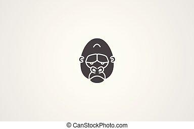 Gorilla vector icon sign symbol