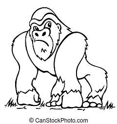 Gorilla. Vector illustration