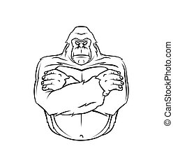 Gorilla Warrior vector illustration