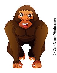 Gorilla with happy face