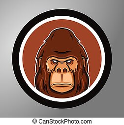 Gorillas Circle sticker