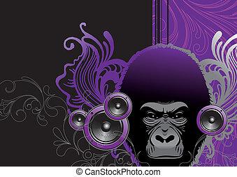 gorille, audio