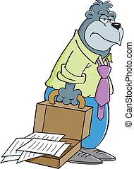 gorille, dessin animé, serviette