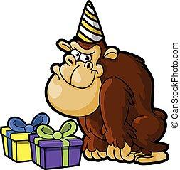 gorille, fêtede l'anniversaire, utilisation