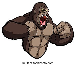 gorille, mascotte