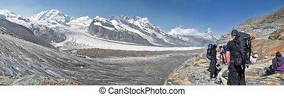 Gorner Gletscher with Matterhorn